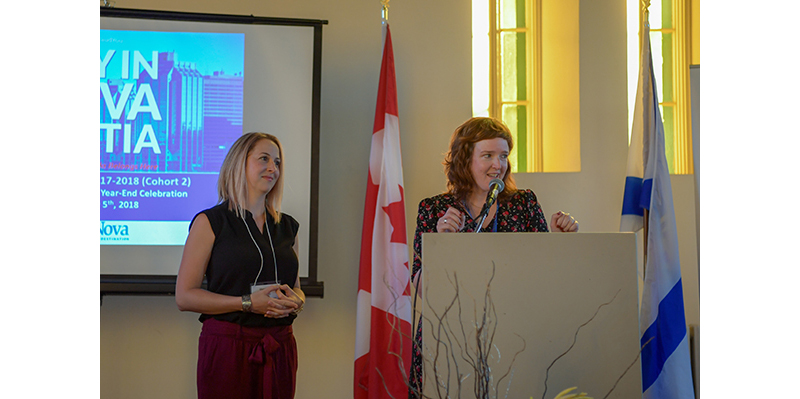 Jennifer Wesman, Retention Co-ordinator from EduNova, and Chantal Brine, Vice President of Youth Employment from Venor / En Point